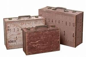 Shabby Chic Deko Onlineshop : vintage koffer voyage antiker reisekoffer shabby chic deko koffer retro ~ Frokenaadalensverden.com Haus und Dekorationen