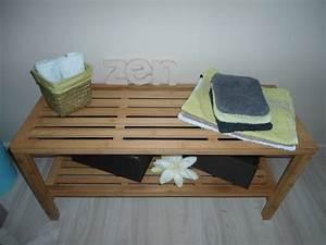 Banc Salle De Bain : petit banc en bambou photo 2 13 3515480 ~ Teatrodelosmanantiales.com Idées de Décoration