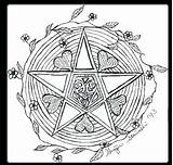 Coloring Wiccan Pages Wicca Pentagram Pagan Adults Drawing Samhain Colouring Goddess Printable Pentacle Symbols Drawings Children Books Getcolorings Sheets Getdrawings sketch template