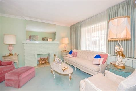 Pink Sofa Living Room by Toronto Home Is A 1960s Decorating Time Capsule