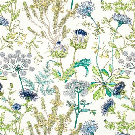 teal  navy blue upholstery fabric green yellow floral headboard material abstract blue