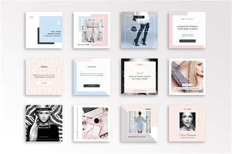 story template photoshop fashion instagram template