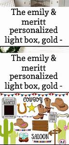 The Emily  U0026 Meritt Personalized Light Box  Gold
