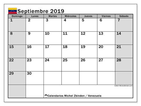 calendario septiembre venezuela michel zbinden es