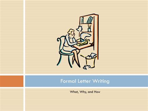 formal letter writing powerpoint  id