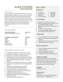 general labor resume summary exle entry level resume templates cv sle exles free student college graduate