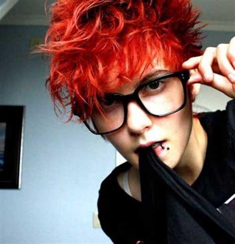 red pixie hair