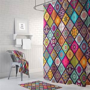 Boho Style Kaufen : mandala hippie quilt design shower curtain boho chic gypsy bath mat bath towels optional ~ Orissabook.com Haus und Dekorationen