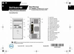 Dell Vostro 460 Quick Start Guide Setup And Features