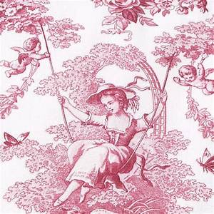 Toile De Jouy : linen toile de jouy red cushion les brodeuses parisiennes ~ Teatrodelosmanantiales.com Idées de Décoration