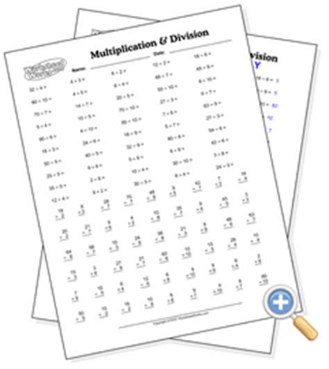 mixed multiplication division drill worksheetworks com