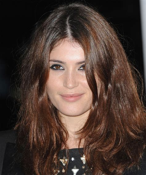 gemma arterton casual long straight hairstyle chocolate