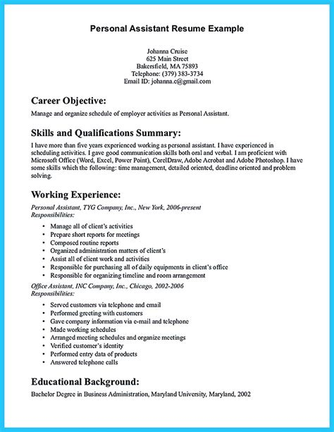 Exle Of A Assistant Resume by Writing Your Assistant Resume Carefully