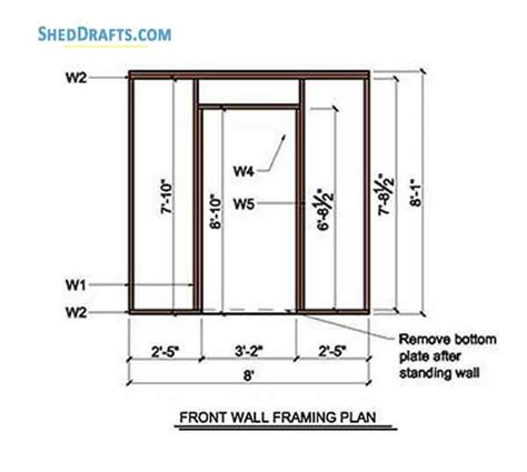 lean  storage shed plans blueprints  creating