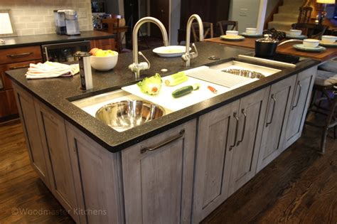 kitchen island with a mixed blessing clinton township woodmaster kitchens 2047