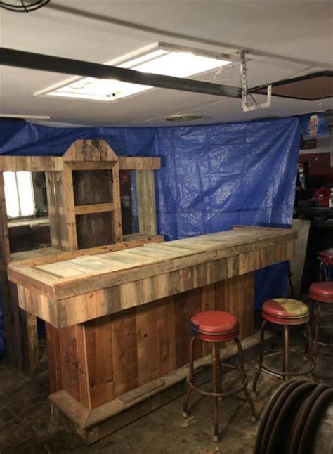 recycled wood pallet bar ideas pallet ideas