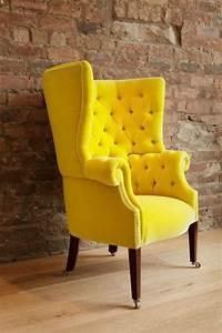 Fabolous, Yellow, Wingback, Chair, Design, Ideas
