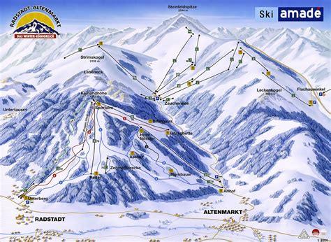 ski amade map radstadte austria mappery