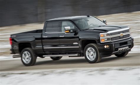 chevrolet silverado hd high country diesel test review car  driver