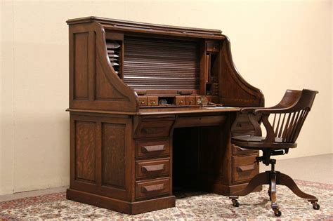 old fashioned desks for sale oak 1900 antique double roll top 5 39 raised panel desk ebay