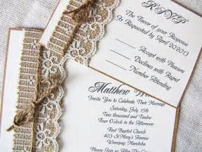rustic wedding invitations rustic lace wedding invitations ipunya