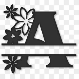 fancy monogram font split letter monogram  clipart