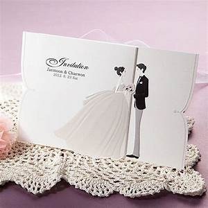 100kits lovely couple wedding invitations cards envelopes for Wedding invitations with photo of couple