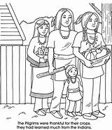 Coloring Pages Harvest Thanksgiving Native Worksheets Indians Pilgrims American Printable Sheets Americans Indian Adult Woman Homeschooling Clothing Print Read Crafts sketch template