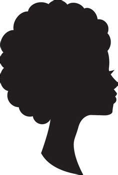 African woman and man face silhouette Young attractive