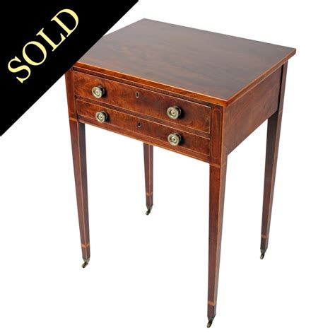 side table with two drawers antique side table georgian two drawer side table
