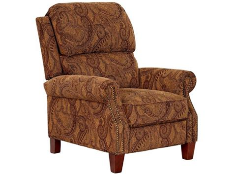 brown paisley push back recliner bailey s furniture