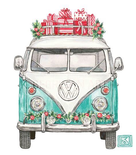 Christmas Vw, Christmas Volkswagen, Greeting Cards