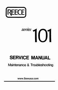 Reece 101 Instructions  U0026 Service Manual