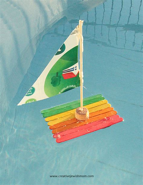 How To Make A Boat Using Craft Sticks by Popsicle Stick Sailboat Craft For Kids Creative Jewish Mom