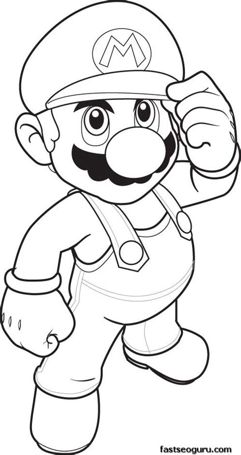 print  coloring pages mario coloring sheet  kids