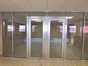 les amenagements portes pour cloisons de bureau espace With les portes en aluminium