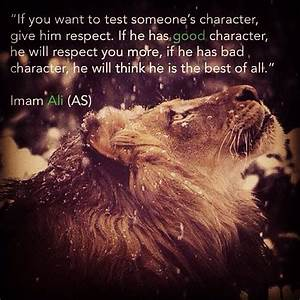 Good character ... Islamic War Quotes