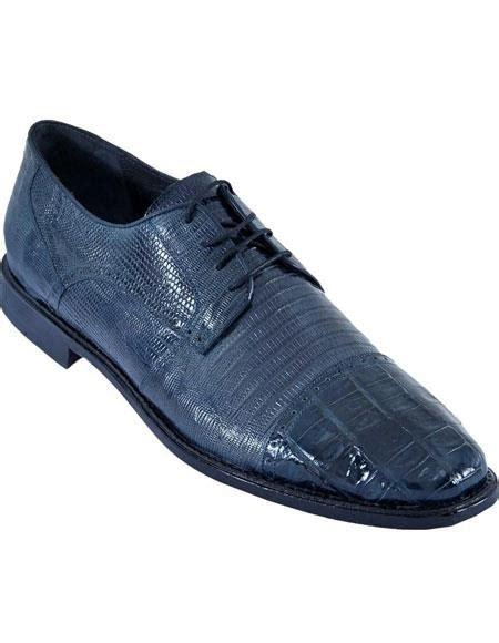 Mens Navy Blue Oxfords Style Los Altos Genuine Crocodile