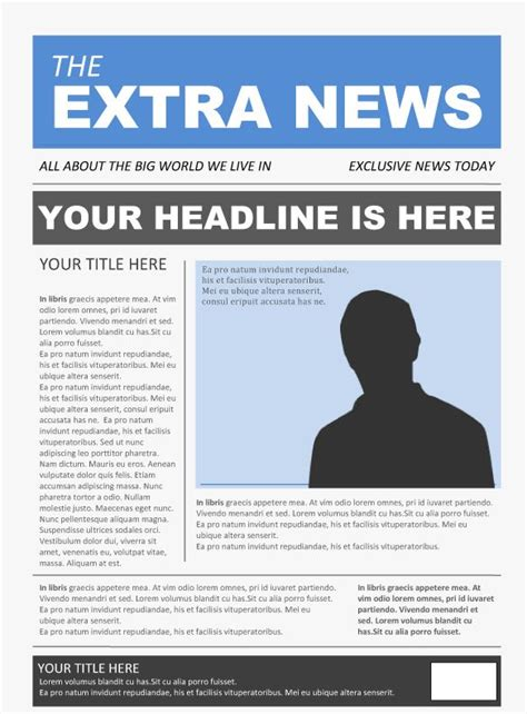 Basic Newspaper Template by Word Newspaper Template 2 1 6th Grade Language Arts