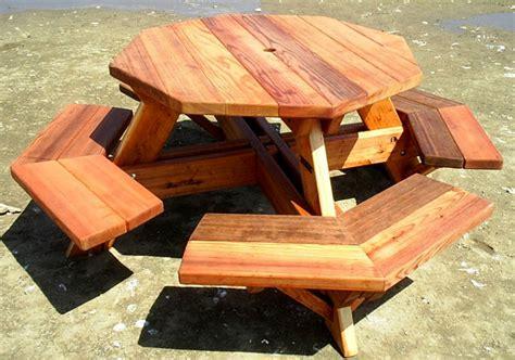 wood octagon picnic table   build  amazing diy