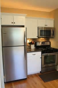backsplashes for small kitchens small kitchen remodel featuring slate tile backsplash remodelaholic