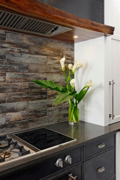 wood kitchen backsplash ideas wood look tile ideas for every room in your house 1584