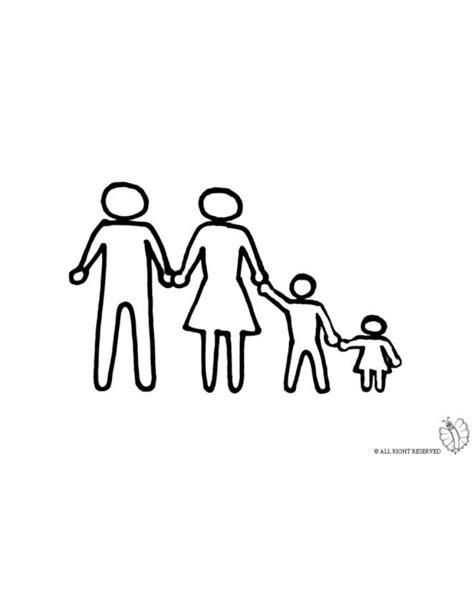 disegno  famiglia unita da colorare  bambini