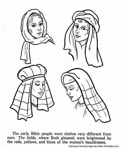 Bible Coloring Pages Times Easter Testament Headdress