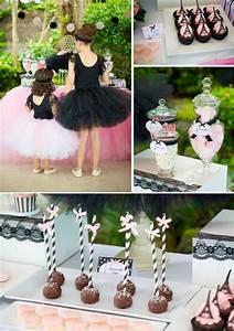 Parisan Chic Ballerina Ballet Pink Black Girl Party