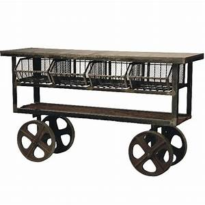 Industrial, Rolling, Kitchen, Cart