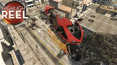 Gta Motorcycle Rides Cat Flaming Dying Flying