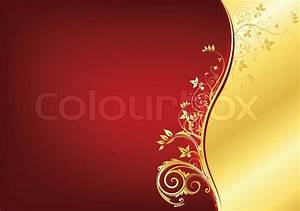 Red and Gold Retro Swirl Texture Background. Vector ...