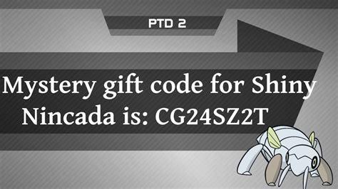 pokemon mystery codes gift gifts shiny code nincada tower combee desde guardado