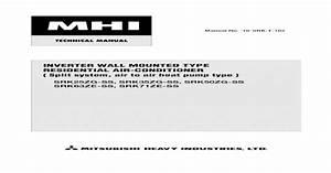 Mitsubishi Split Type Aircon Manual